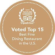 Voted #4 Best fine restaurant in The US